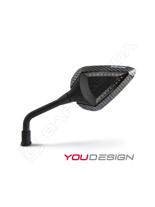 Inserty carbon look abs do lusterek D-VERSION BARRACUDA INDICATOR LED 2 sztuki
