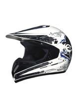 Kask Off-road C1 DECOR WHITE 12