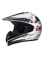 Kask Off-road C1 DECOR WHITE 13