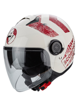 Kask otwarty Scorpion EXO-CITY HERITAGE White/Red