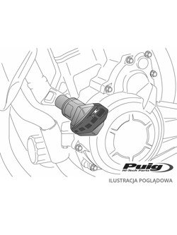 Crash pady PUIG do Ducati Monster 620 02-06 / 695 06-07 / 800 03-04 / 1000 02-05 (czarne)
