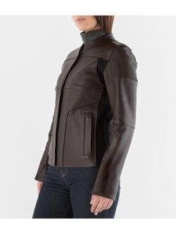 77b7849664e6e Damska kurtka skórzana Knox Phelix Leather Biker - [BRĄZOWA], Knox ...